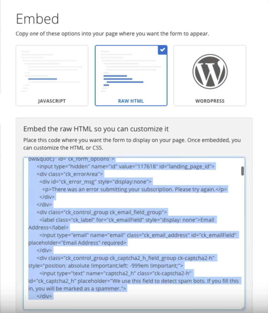 ConvertKit HTML Form Embed - How to Add Multiple ConvertKit Modal Forms on One Page